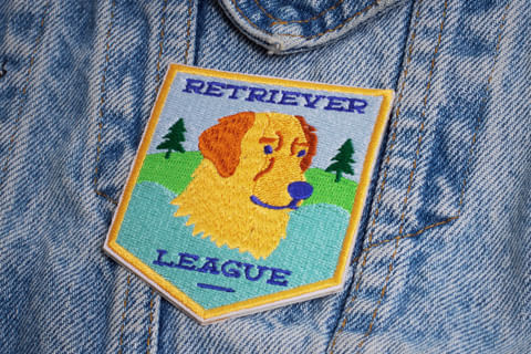 Patch-Bordado-Retriever-League