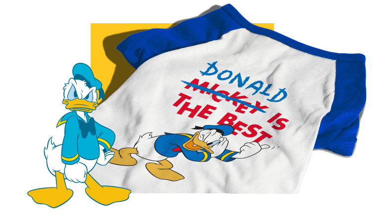 Camiseta para Cachorros Donald Duck Pato Donald - Zee.Dog