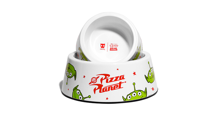 comedouro para cachorros little green man pizza planet toy story zeedog cachorro