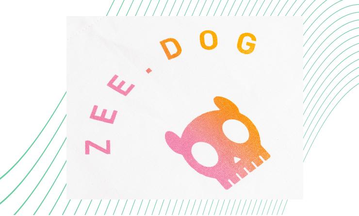 Estampa da Ecobag Gradients Citrus Neutra - Zee.Dog