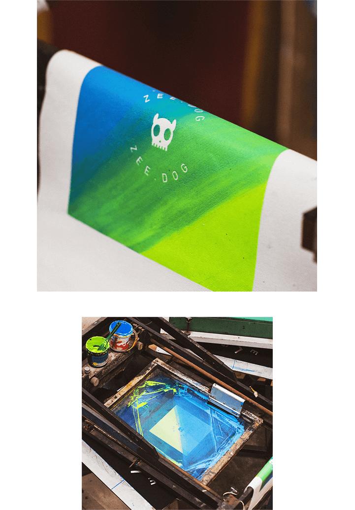 Produção da Ecobag Gradients Tide Neutra - Zee.Dog