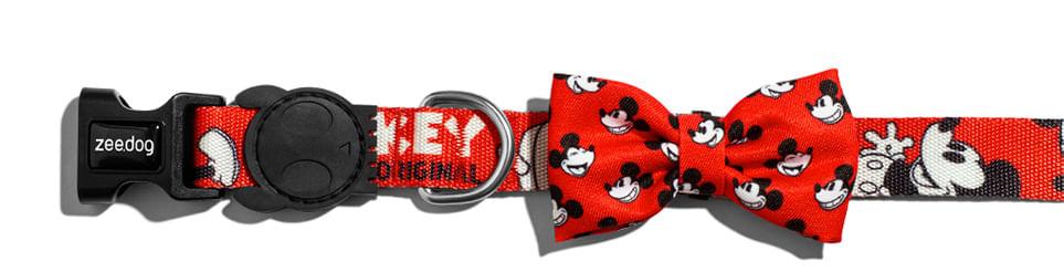 Gravata para Cachorros Estampa Mickey Vermelho Comemoração 90 anos - Zee.Dog