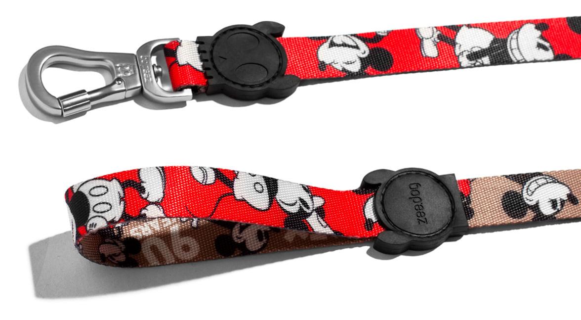 Guia para Cachorros Estampa Mickey Vermelho Comemoração 90 anos - Zee.Dog