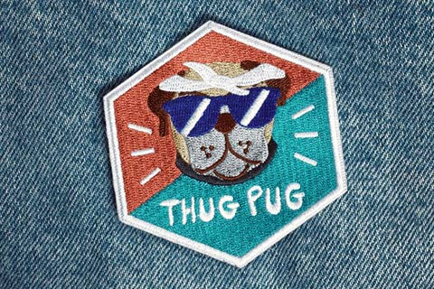 Patch-Bordado-Thug-Pug