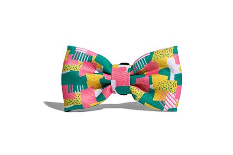 gravata-para-cachorros-salina-rosa-amarelo-turquesa-abstrato-zeedog-cachorro-pet-active