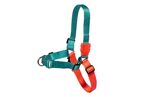 peitoral-para-cachorros-soft-walk-twist-turquesa-laranja-zeedog-cachorro-pet-active