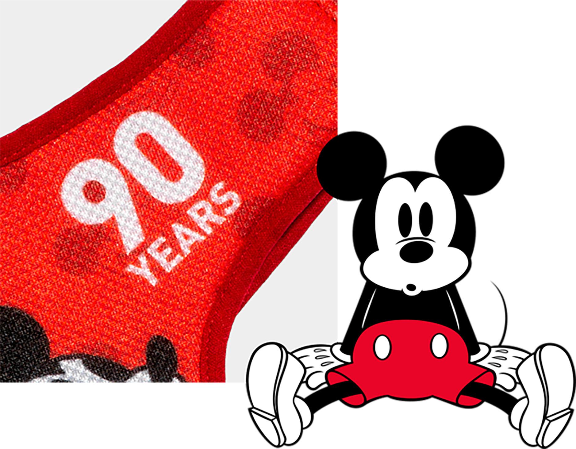 Peitoral Mesh Plus para Cachorros Estampa Mickey Vermelho Comemoração 90 anos - Zee.Dog