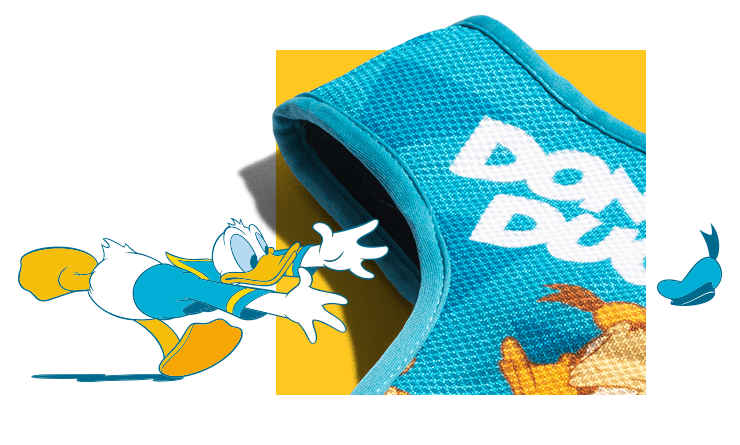 Peitoral Mesh Plus para Cachorros Donald Duck Pato Donald - Zee.Dog