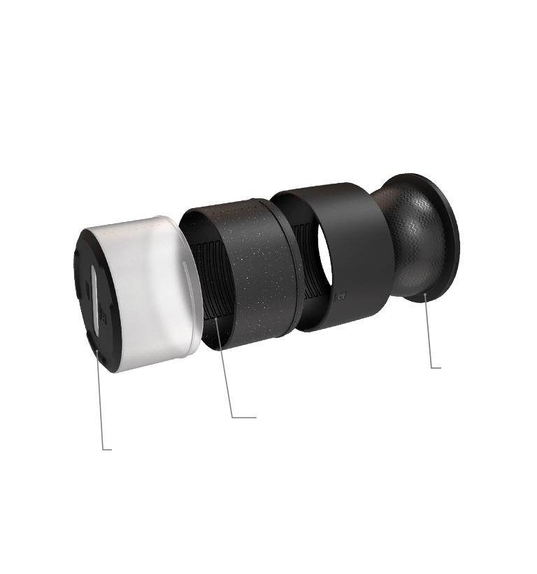 Zee.Bowl - Comedouro ajustável - Gire para ajustar e desmontar
